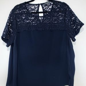 Navy Blue Blouse - L - The Limited